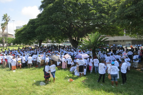 First marchers gather at Dinuzulu Square