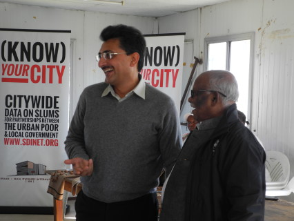SDI President Jockin Arputham (Right) & Rajiv Jalota (Additional Municipal Commissioner for Greater Mumbai Municipality)