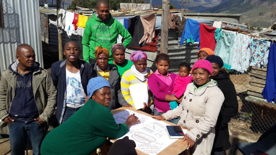 Zwelitsha community members developing plans for the Siphumelele WaSH facility