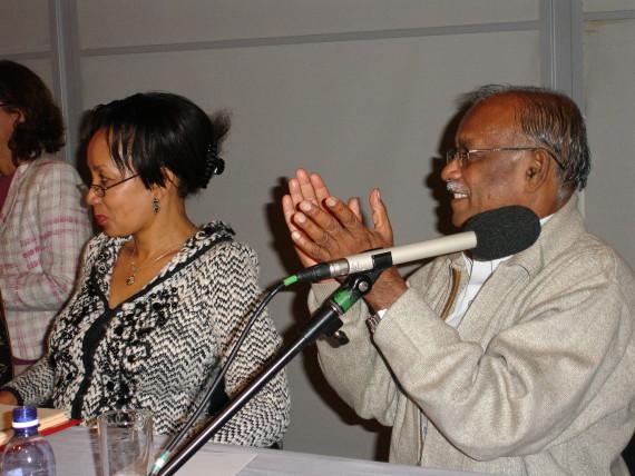 Minister Lindiwe Sisulu and President of SDI, Jockin Arputham