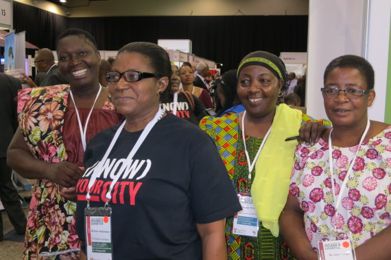 Rose Molokoane and SDI delegates from Uganda, Tanzania and Zimbabwe