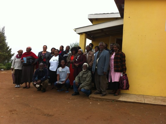 Leaders of different saving schemes gather after meeting with  SASDI delegates