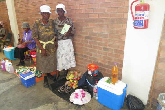 The small business of Sarah Makgopela and Elizabeth Moletese of Aganang savings scheme in Legonyane, North West province.