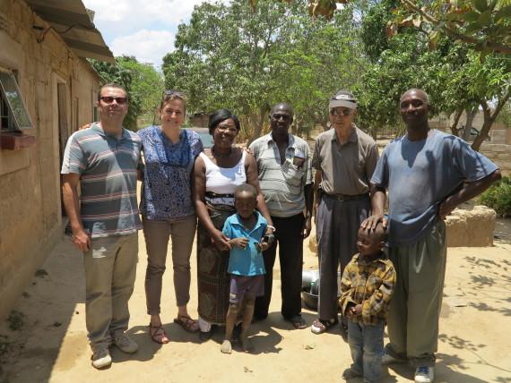 Visiting Kalunduville settlement near Kafue, Zambia