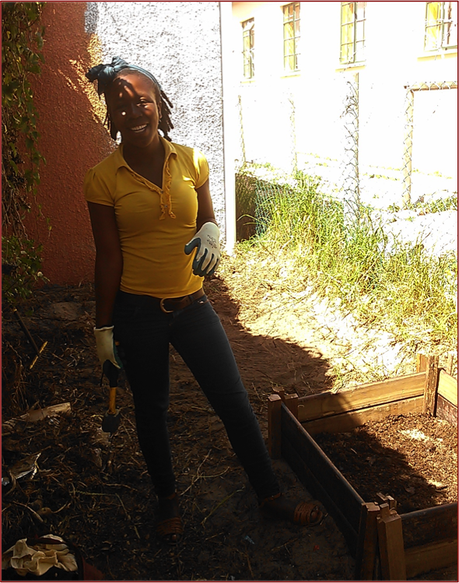 Anela was an unpaid volunteer at the Masiphumelele Pink House when she started with CORC in June. Now she earns a wage on the CORC team, partly to help restore the Pink House community garden.
