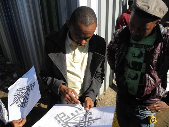 Planning reblcoked Layout in Mtshini Wam informal settlement, Milnerton