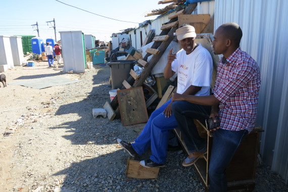 In Kuku Town informal settlement with community leader Verona Joseph