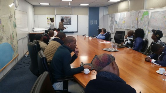 Community leaders of Tambo Sqaure informal settlement in Mfuleni , Cape Town present their plans to the local municipality.