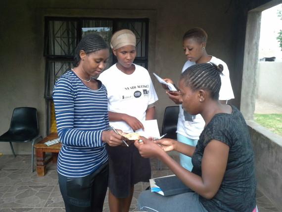Mpumalanga youth collect door to door savings