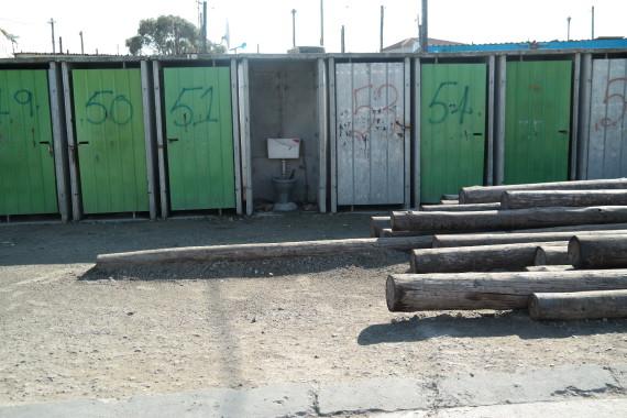 Communal toilet block in K2