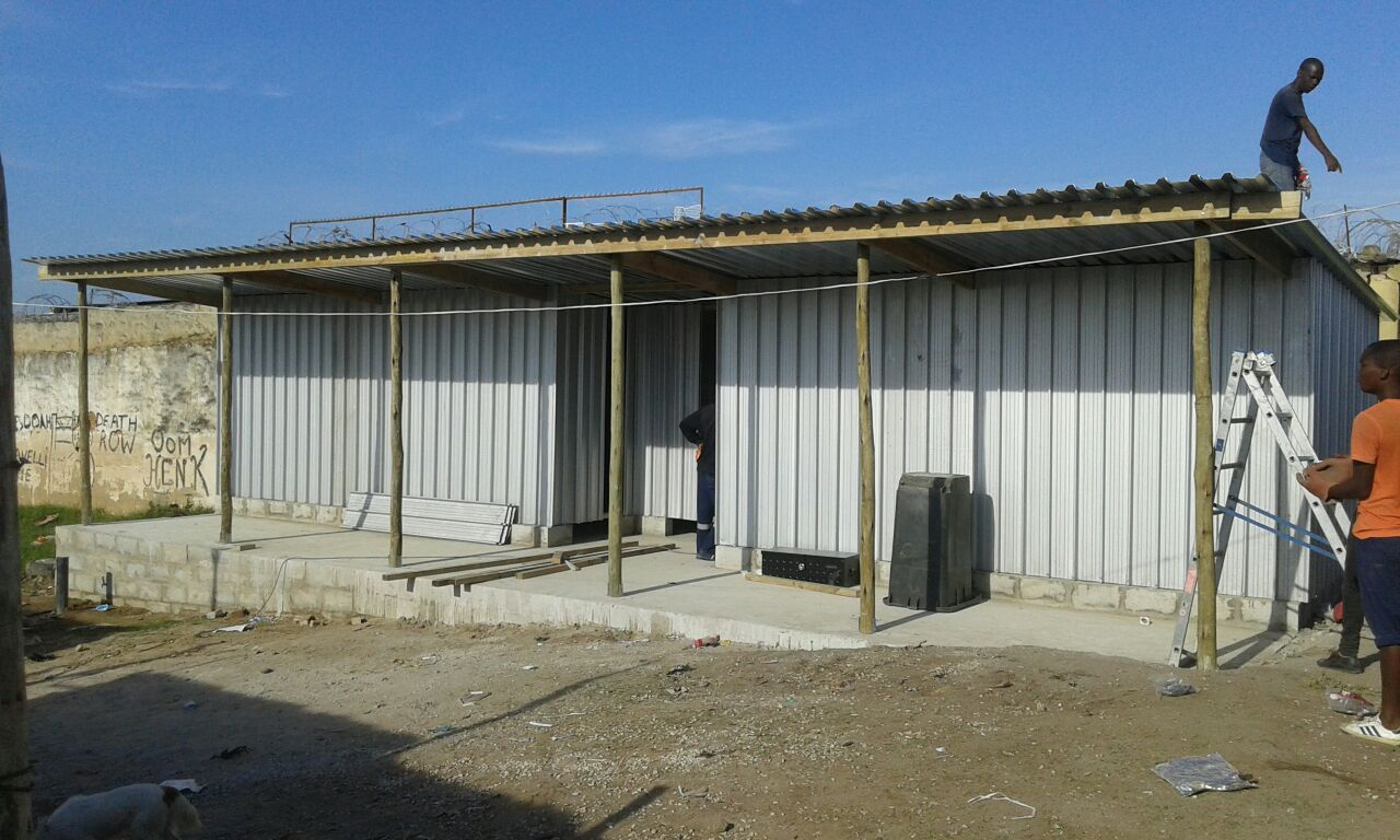 Midrand WaSH Facility in Midrad informal settlement, one of the projects that the were constructed by the community.