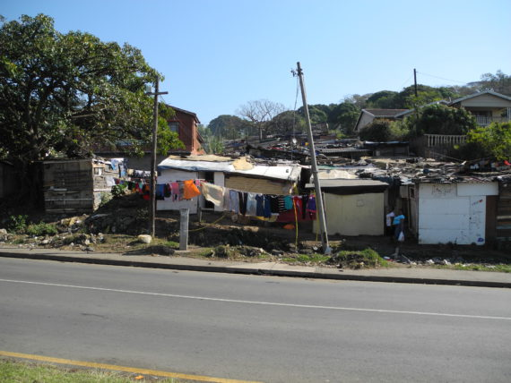 View of KwaMthambo settlement in Durban