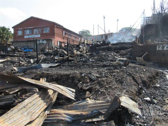 Mathambo after the 2016 fire