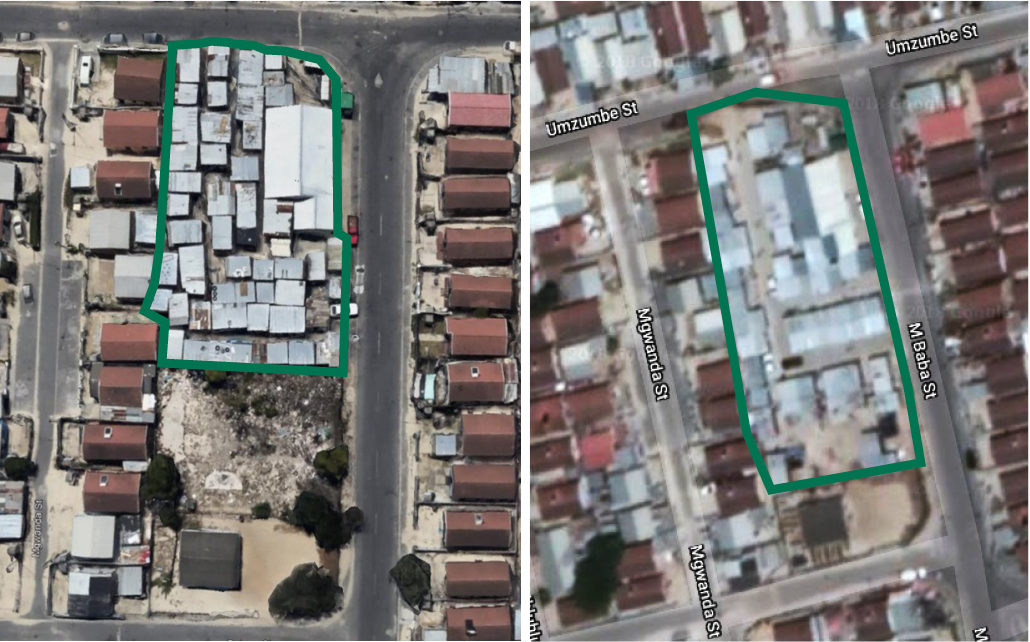 Look over California informal settlement before and during implementation