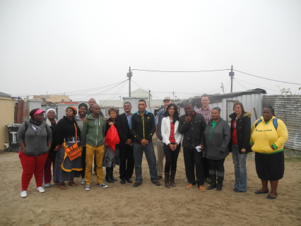 Partners in the Project: Community Members, ISN, Habitat for Humanity, City representatives and CORC