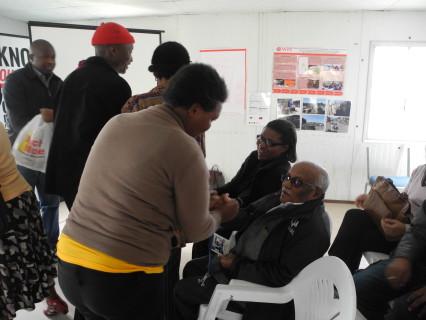 Community Leaders greet Jockin
