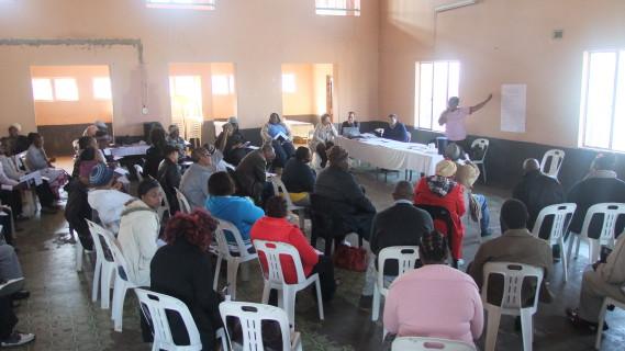 Rose Molokoane facilitates a discussion at the Leadership Retreat