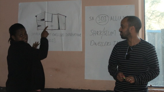 Rose Molokoane (National Co-ordinator of FEDUP) and Charlton Ziervogel (CORC Programme Officer)