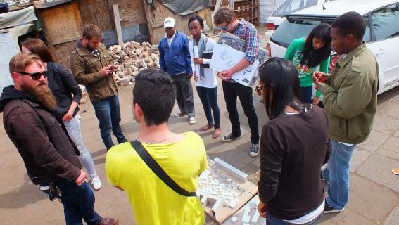 UJ students and community members in Denver informal settlement