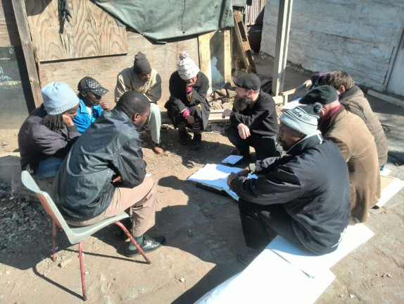 Students and community members in Denver informal settlement