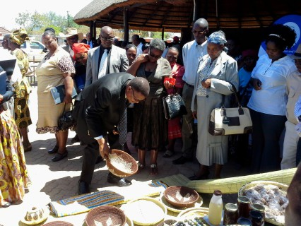 The Minister purchasing some of the federation's income generating products