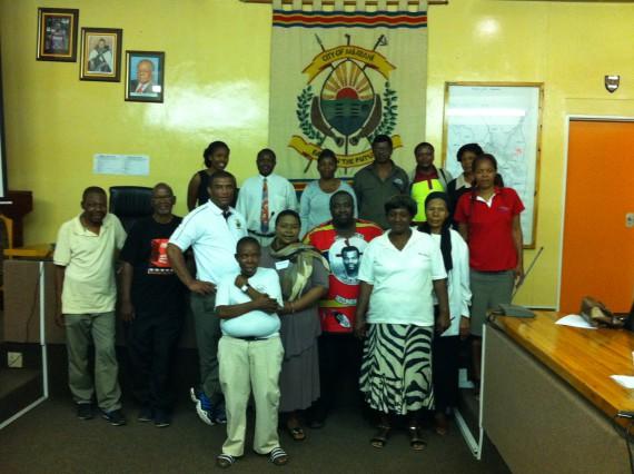 Group photo of Mayors, Councillors, SLIPO & FEDUP members