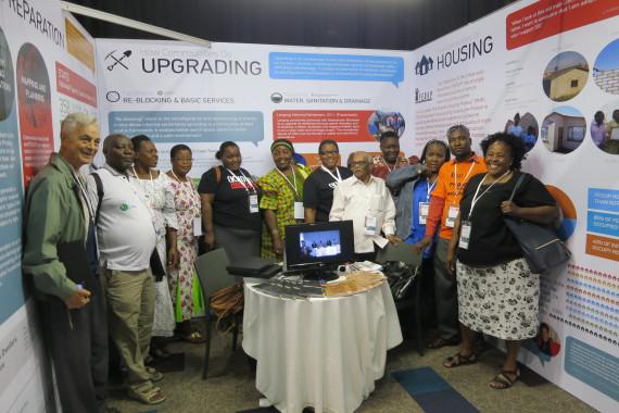 South African and International SDI delegates at Exhibition booth