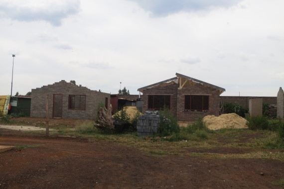 RDP house (left) , FEDUP show house (right)