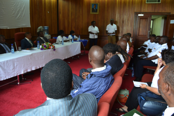 Hub participants attending a meeting with the Blantyre City Council.