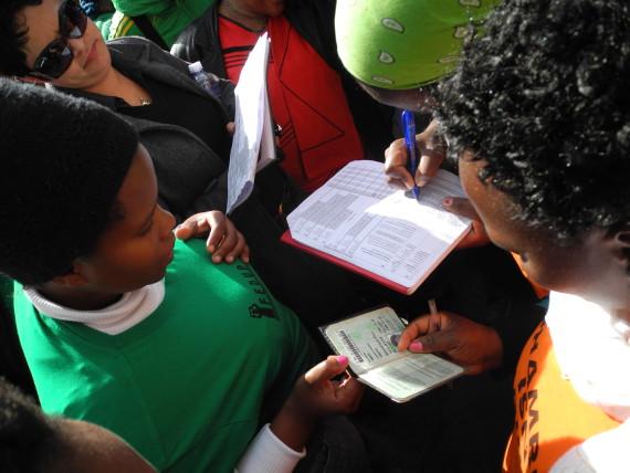 Profiling & Enumeration in UT Gardens Khayelitsha, June 2013