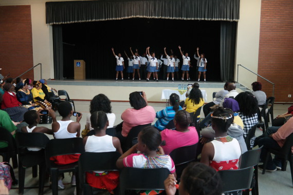 Youth savings group shares dance performance