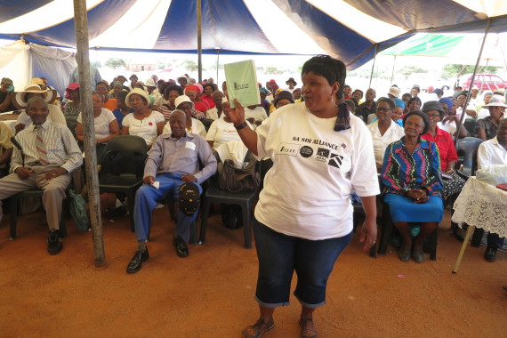 FEDUP Saver, Sophie Mofokeng at Savings Gathering in Mahikeng, North West Province