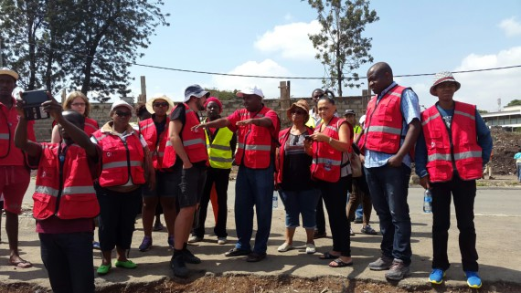 Team site visit in Mukuru