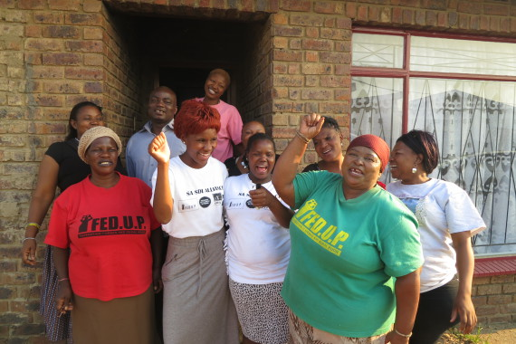 Nomvula with fellow Federation and Youth coordinators in Mpumalanga