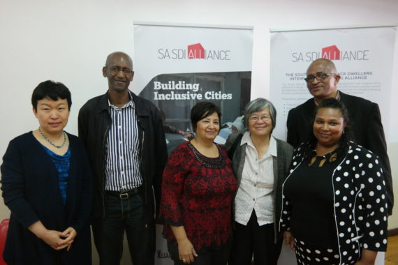 From left to right: Representatives from the World Bank, Cities Support Programme (Treasury), CORC, Somsook, Western Cape Human Settlements HoD and ISN Coordinator