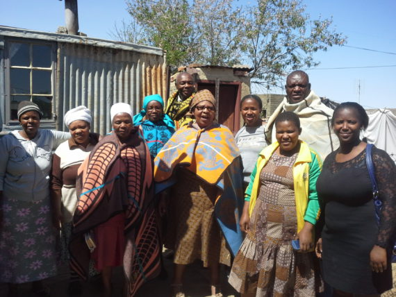 Lesotho federation and Tshwarellang saving scheme members (Free State) after mobilising new savers